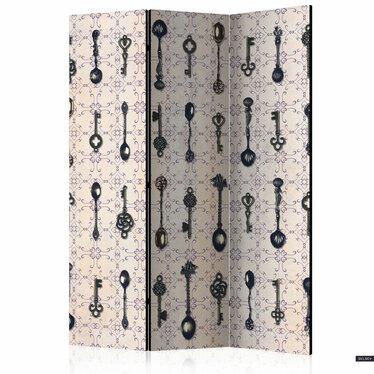 Parawan 3-częściowy - Styl retro: Srebrne łyżki
