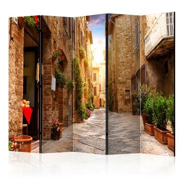 Parawan 5-częściowy - Kolorowa uliczka w Toskan
