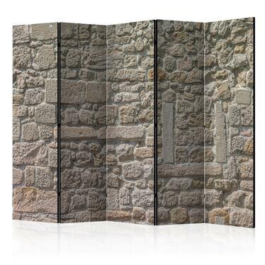 Parawan 5-częściowy - Kamienna świątynia