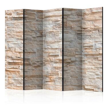 Parawan 5-częściowy - Kamienne wyrafinowanie