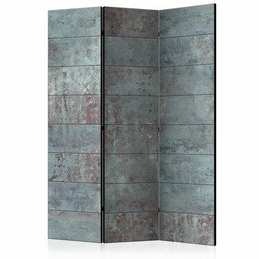 Parawan 3-częściowy - Turkusowy beton
