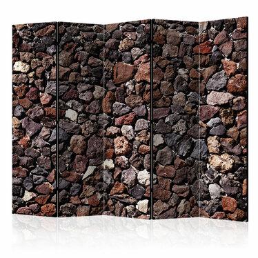 Parawan 5-częściowy - Kamienny zamek