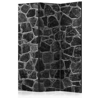 Parawan 3-częściowy - Czarne kamienie