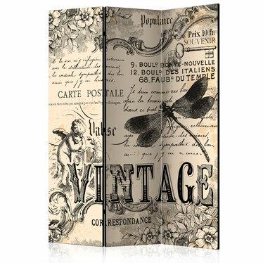 Parawan 3-częściowy - Vintage Correspondence