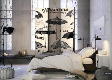Parawan 3-częściowy - Vintage Umbrellas