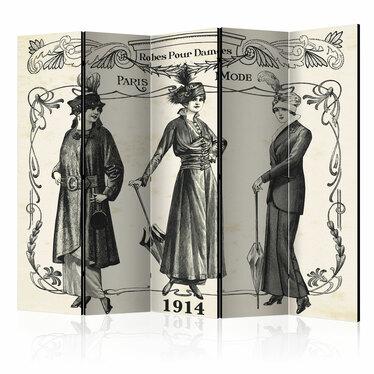 Parawan 5-częściowy - Dress 1914