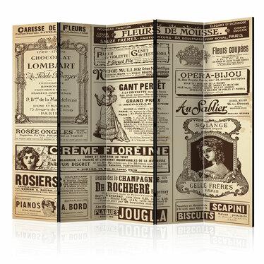 Parawan 5-częściowy - Vintage Magazines
