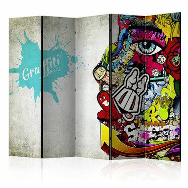 Parawan 5-częściowy - Graffiti Beauty
