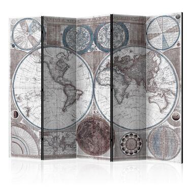 Parawan 5-częściowy - Terraqueous Globe