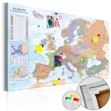 Tablica korkowa Mapy świata: Europa