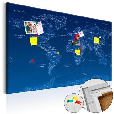 Tablica korkowa Mapa świata: World Connection