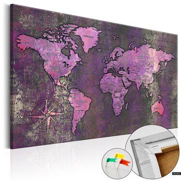 Obraz na korku - Ametystowa mapa