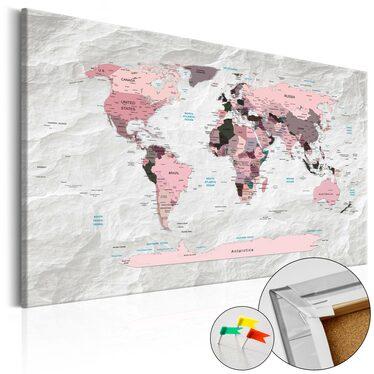 Tablica korkowa Różowe kontynenty