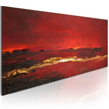 Obraz malowany - Czerwień oceanu