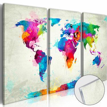 Obraz na plexi - Mapa świata: Eksplozja kolorów