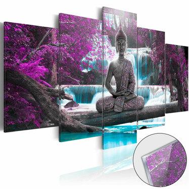 Obraz na plexi - Wodospad i Budda