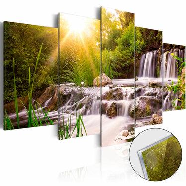 Obraz na plexi - Leśny wodospad