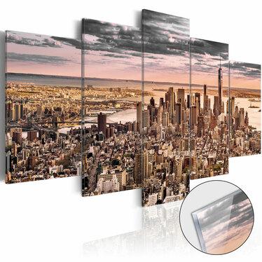 Obraz na plexi - Nowy Jork: Poranne niebo