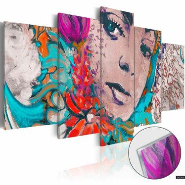 Obraz na plexi - Kolorowa kokietka