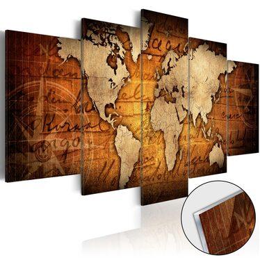 Obraz na plexi - Plexi: brązowa mapa