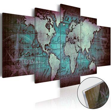 Obraz na plexi - Plexi: Zielona mapa