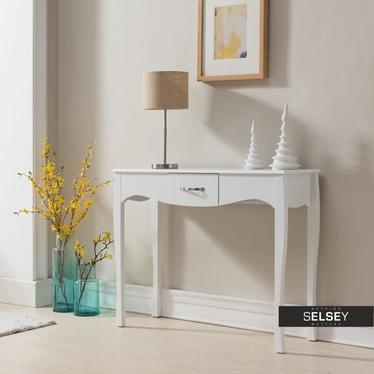 Toaletka Luarca biała z szufladą 102 cm