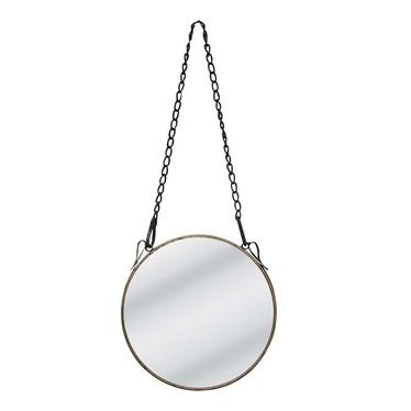 Lustro Captain's Mirror na łańcuszku średnica 24 cm stare srebro