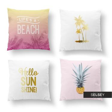 Zestaw poduszek dekoracyjnych Sunny Pineapple