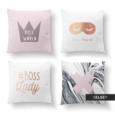Zestaw poduszek dekoracyjnych Miss Boss