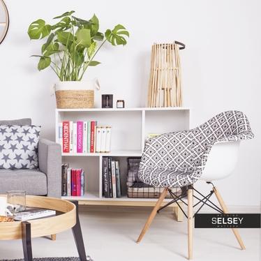 Krzesło MPA wood tap folk tapicerowane na drewnianych nogach