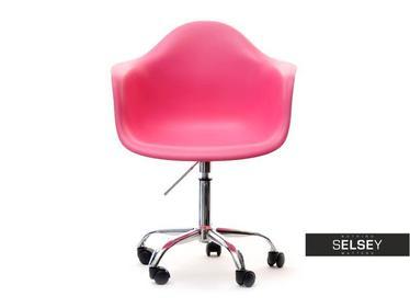 Fotel biurowy MPA move różowy kubełkowy