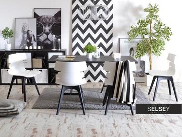 Krzesło Zac dsx biało-czarne z tworzywa