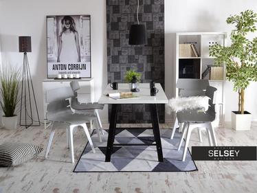 Krzesło Zac dsx szaro-białe designerskie