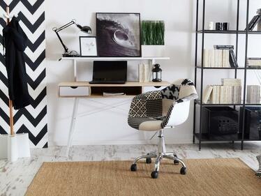 Fotel biurowy MPA move tap patchwork 2 - chrom na kółkach