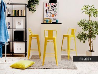 Hoker Alfredo stool 1 żółty z metalu