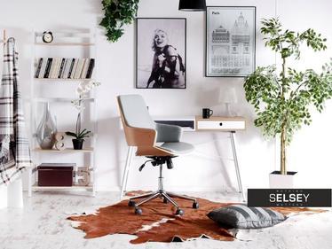 Fotel biurowy Maiela buk - szary obrotowy