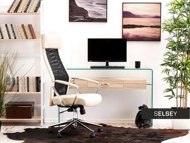 Fotel biurowy Milan beżowo - czarny z regulacją wysokości