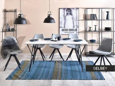 Stół Farre 160x90 cm masywny z białym blatem
