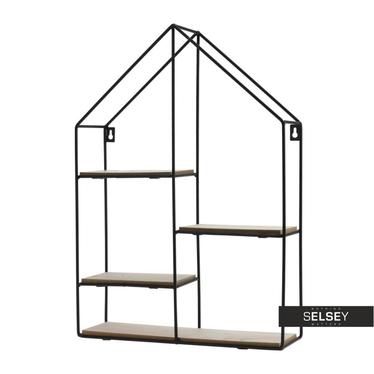 Loftowa półka na drobiazgi Domek 35x50 cm