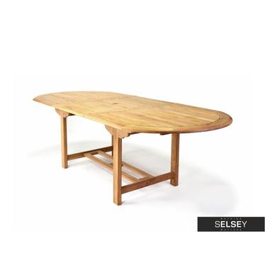 Rozkładany stół ogrodowy z drewna 170(230)x100 cm
