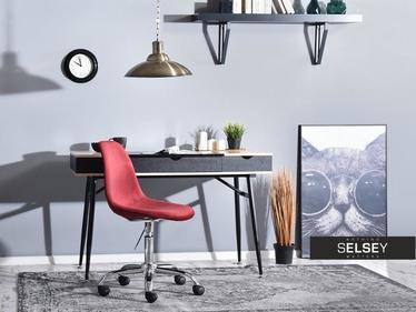 Fotel biurowy MPC move tap bordo obrotowe z tkaniny velvet