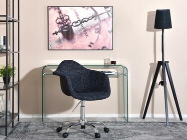 Fotel biurowy MPA move tap czarny tapicerowany obrotowy