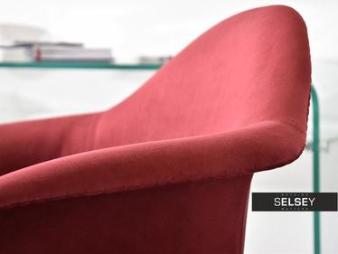 Fotel biurowy MPA move tap bordo gustowne krzesło obrotowe