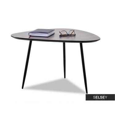 Stolik kawowy Rosin 68x65 cm beton-czarny do industrialnego salonu