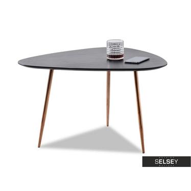 Stolik kawowy Rosin 68x65 cm czarny-miedź