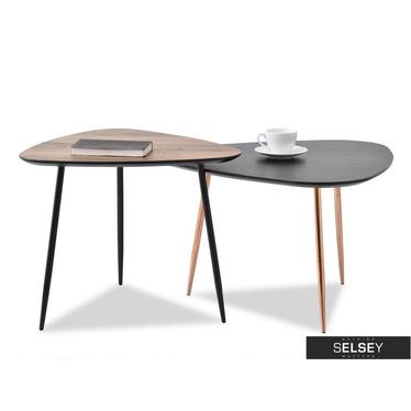 Zestaw stolików kawowych Rosin mix 68x65 cm i 59x56 cm