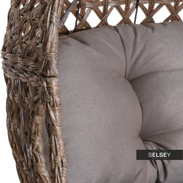 Sofa ogrodowa Kokon brąz