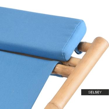 Leżak ogrodowy Bambus niebieski