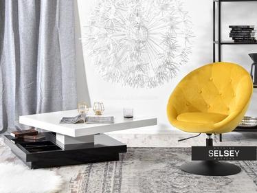 Fotel Lounge 3 żółto-czarny matowy z regulacją