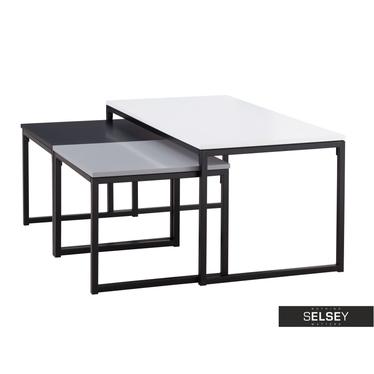 Zestaw stolików kawowych Monochroma 100x50 cm i 45x47 cm